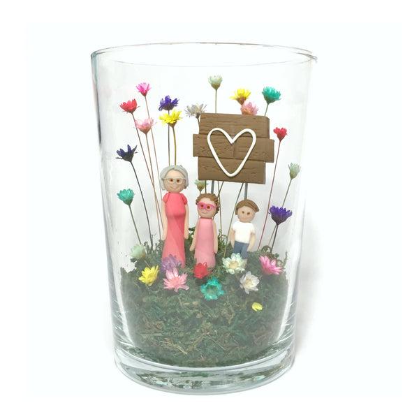 Unique Modern Gift for Girls Boys Couples Mum Dad Aunty Sister Best Friend mini indoor garden home decor terrarium love flowers Housewarming Family grandparents