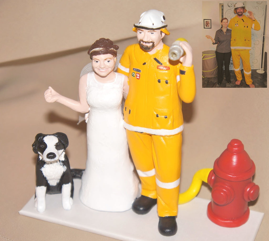 Realistic Career Custom Wedding Cake Topper – ThatLittleNook