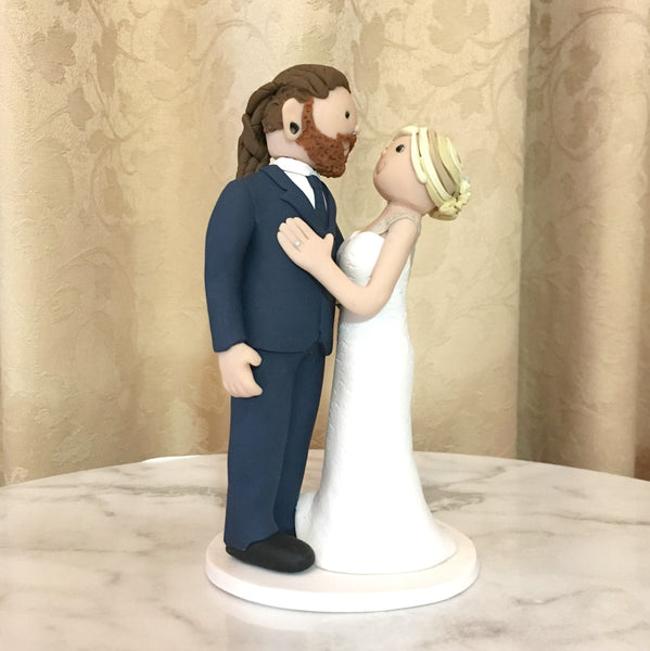 Cartoon Custom Wedding Cake Topper