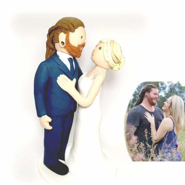 Custom Wedding Cake Topper Portrait Fun