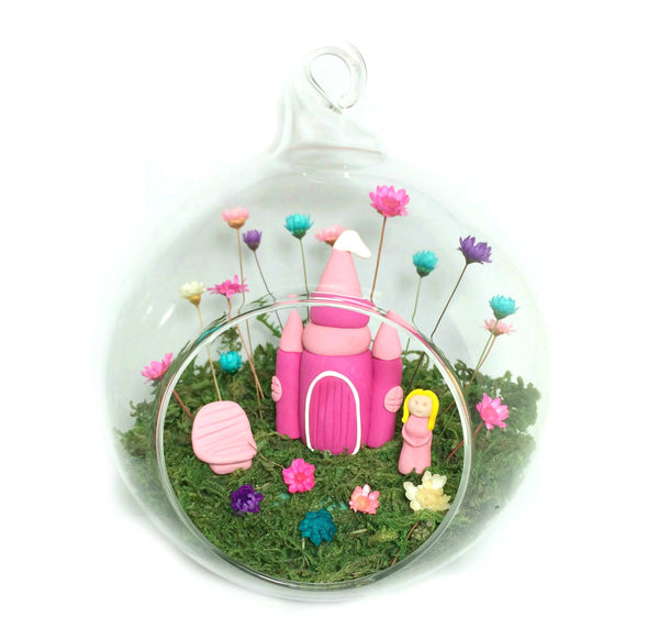 Fairy Decor Little Fairy Garden Indoor tiny flowers Mushroom House handmade terrarium world princess castle girls decor bedroom