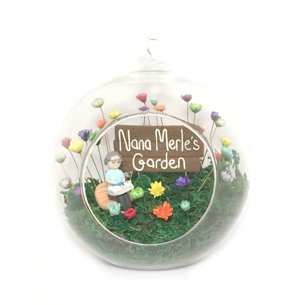 Fairy Decor Little Fairy Garden Indoor tiny flowers Mushroom House handmade terrarium world Unigue Gardening gift for Nan Grandma Mother Mum