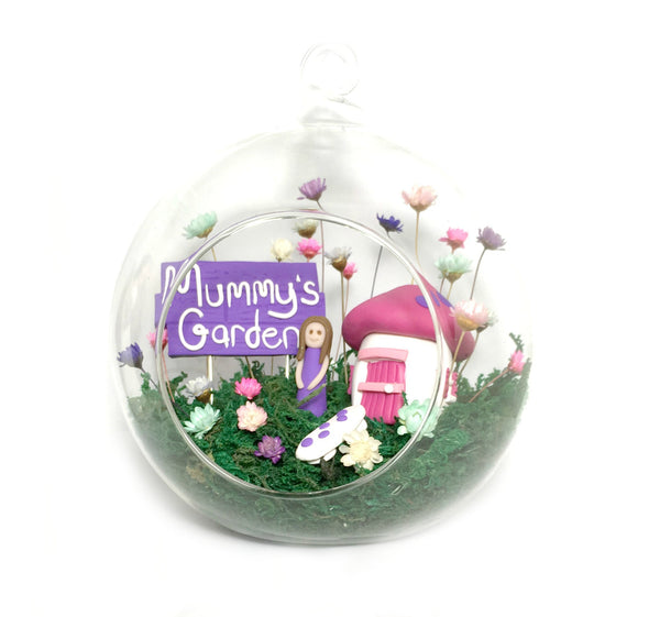 Fairy Decor Little Fairy Garden Indoor tiny flowers Mushroom House handmade terrarium world Mothers Day Gift Unique Custom
