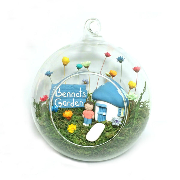 Fairy Decor Little Fairy Garden Indoor tiny flowers Mushroom House handmade terrarium world boys