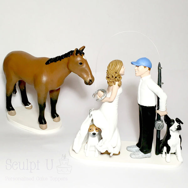 realistic custom birthday cake topper polymer clay handmade figurine keepsake wedding fishing pets