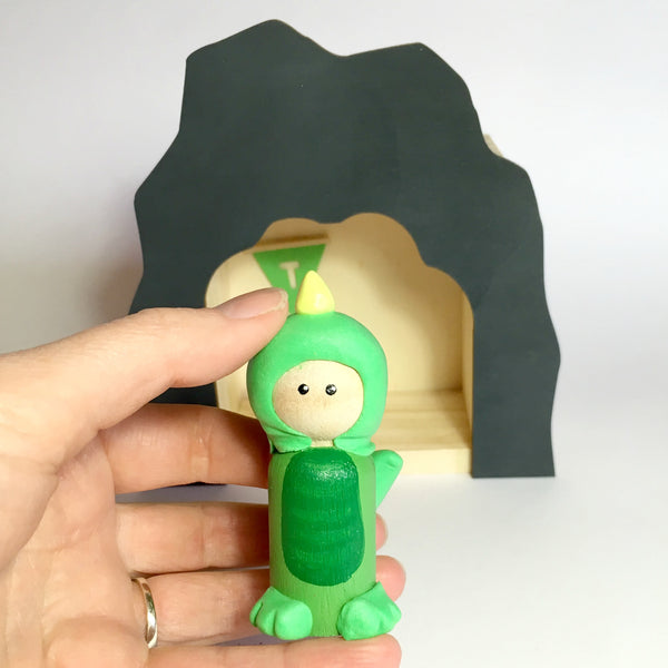 Dino Peg Doll (with house add on option)