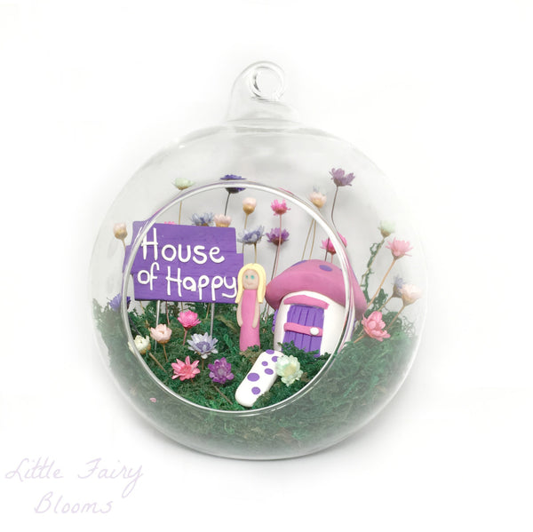 Fairy Decor Little Fairy Garden Indoor tiny flowers Mushroom House handmade terrarium world