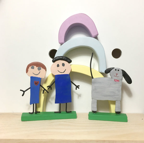 Kids drawing art to Toy Figurine display ornament keepsake