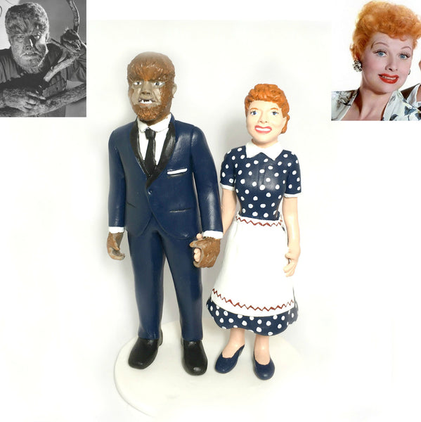 Tv and Movie Character Cake Topper Wolfman I love Lucy Lucille Ball Wedding Cake Topper Figurine