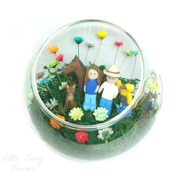 Farm gift terrarium miniature world scene