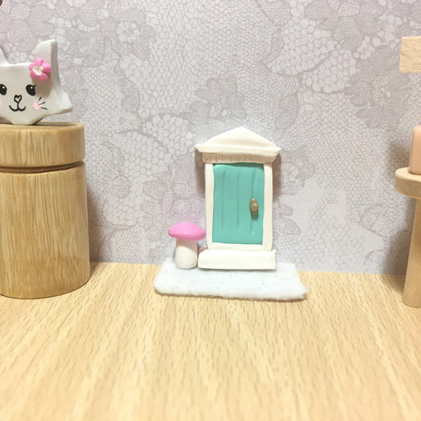 Modern Miniatures Dollhouse Fairy Door Enchanted Girls Decor Miniature Handmade That Little Nook Creative Doll house Tiny World Decor Decorative