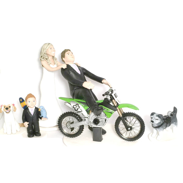 realistic custom birthday cake topper polymer clay handmade figurine keepsake wedding pets family