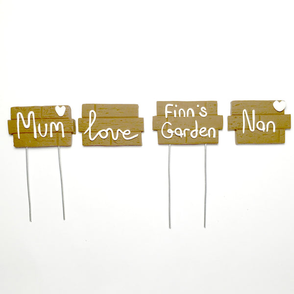 Custom Garden Fairy Garden Terrarium Sign