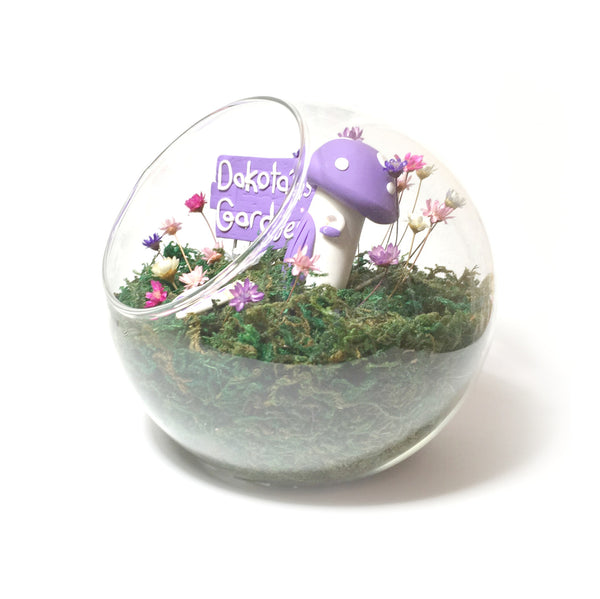 Miniature Indoor Fairy Garden Mushroom House Magic Flowers real tiny garden girls magical custom gifts