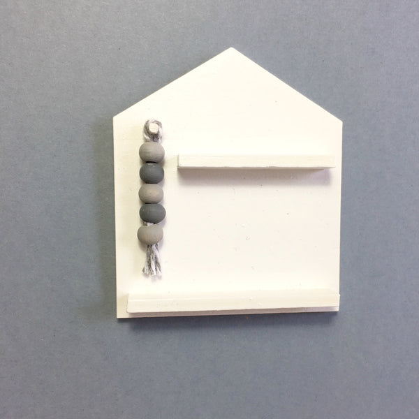 Miniature House Tassle Wall Shelf