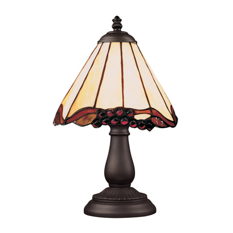 Mix-N-Match 1 Light Table Lamp In Tiffany Bronze And Honey Dune Glass