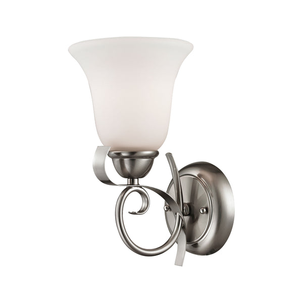 Thomas Brighton 1 Light EEF Wall Sconce In Brushed Nickel