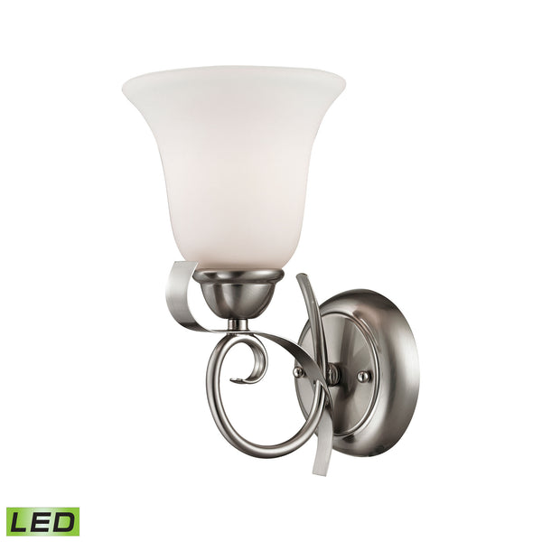 Thomas Brighton 1 Light LED Wall Sconce In Brushed Nickel