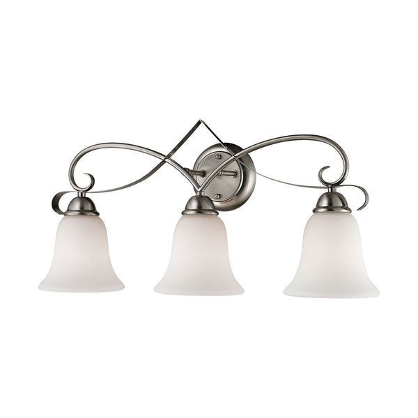 Thomas Brighton 3 Light EEF Vanity In Brushed Nickel