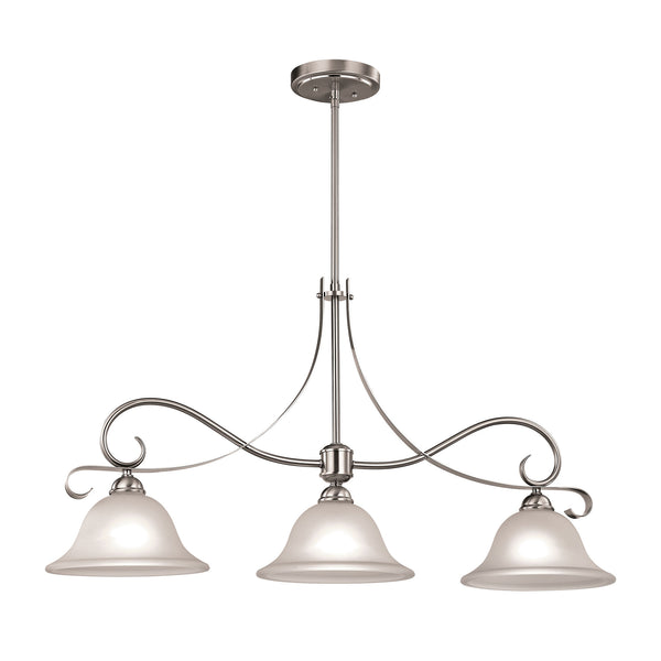 Thomas Brighton 3 Light Island In Brushed Nickel