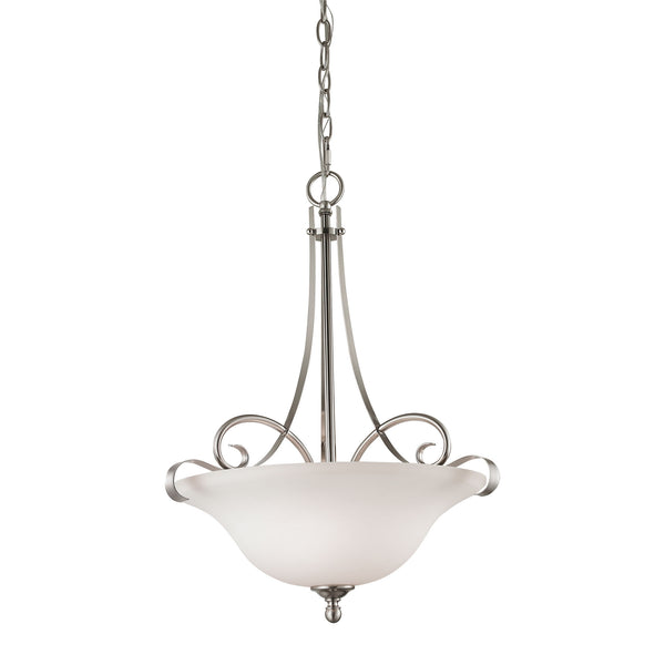Thomas Brighton 2 Light Large Pendant In Brushed Nickel