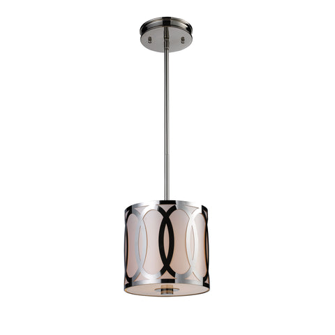 Anastasia 1 Light Pendant In Polished Nickel