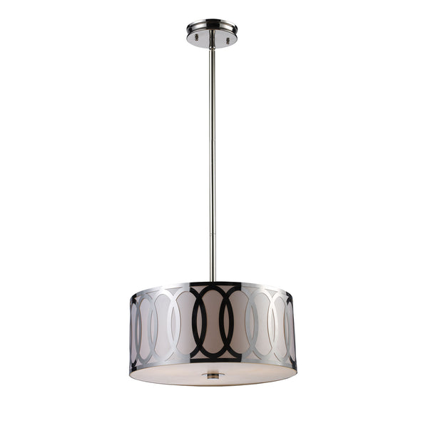 Anastasia 3 Light Pendant In Polished Nickel