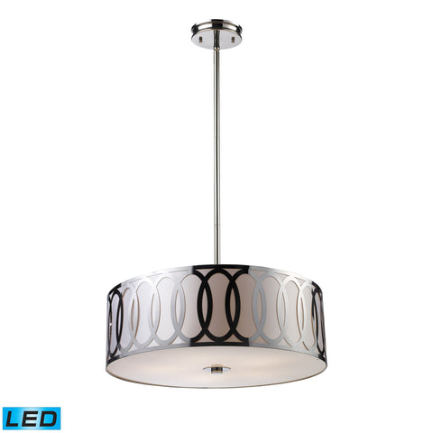 Anastasia 5 Light LED Pendant In Polished Nickel