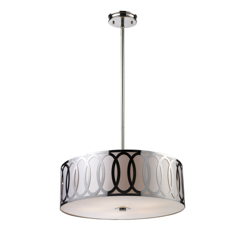 Anastasia 5 Light Pendant In Polished Nickel