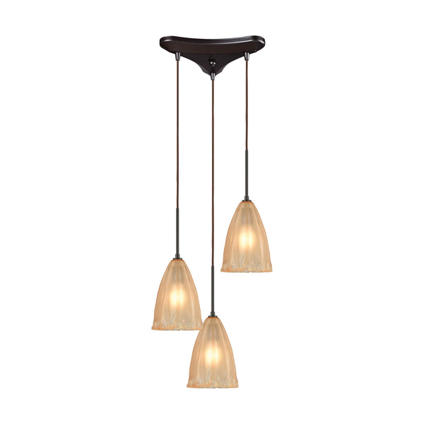 Calipsa 3 LED Light Pendant In Oil Rubbed Bronze