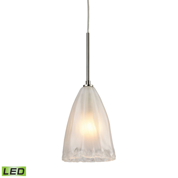 Calipsa 1 Light LED Pendant In Satin Nickel