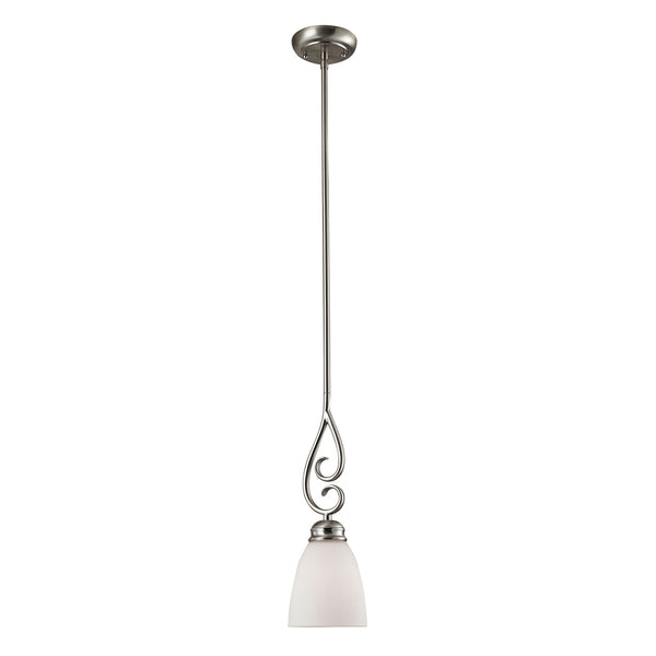 Thomas Chatham 1 Light Pendant In Brushed Nickel