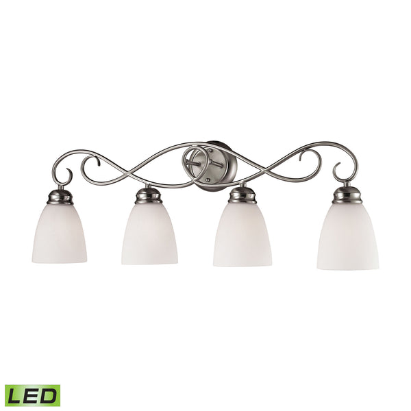Thomas Chatham 4 Light LED Vanity In Brushed Nickel
