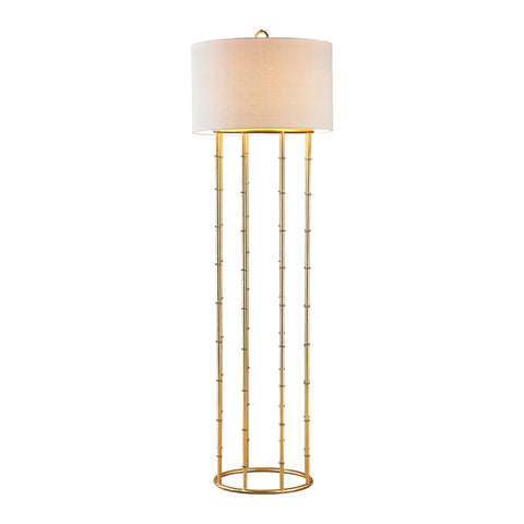 Beautiful Dimond Lighting Brunei 1 Light Floor Lamp In Gold Leaf