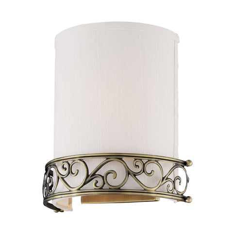 Abington 1 Light Wall Sconce In Antique Brass