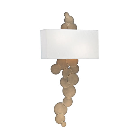 Beautiful Dimond Lighting Holepunch 2 Light Wall Sconce In Gold Leaf