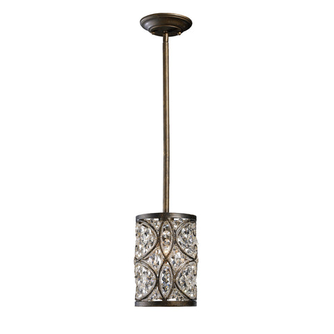Amherst 1 Light Pendant In Antique Bronze