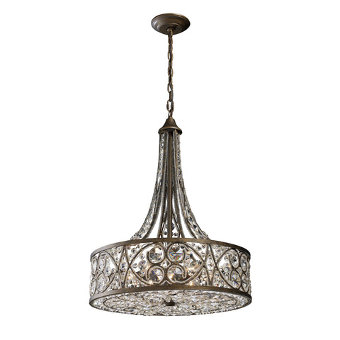 Amherst 6 Light Pendant In Antique Bronze