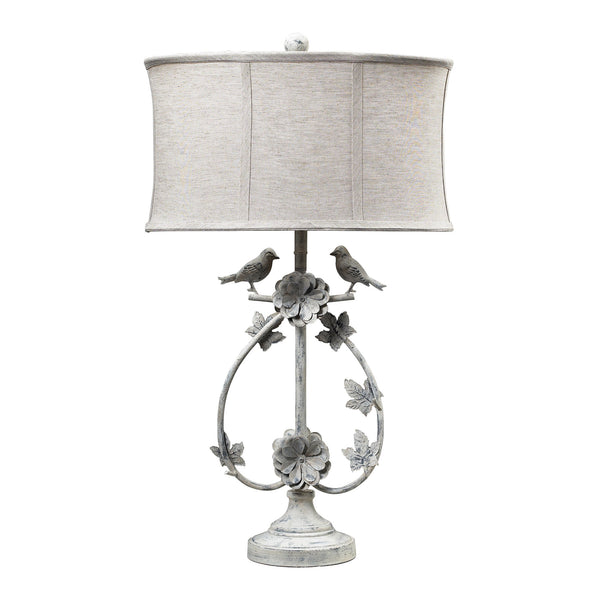 Beautiful Dimond Lighting Saint Louis Heights Table Lamp in Antique White