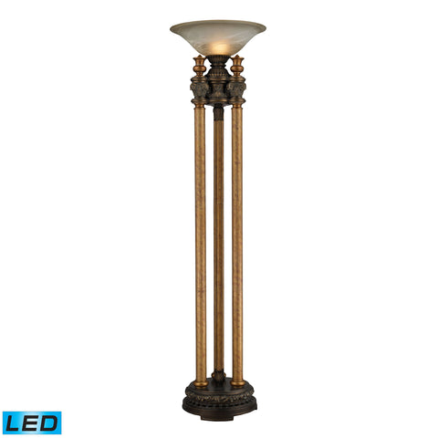 Beautiful Dimond Lighting Athena 1 Light LED Torchiere Floor Lamp In Athena Bronze