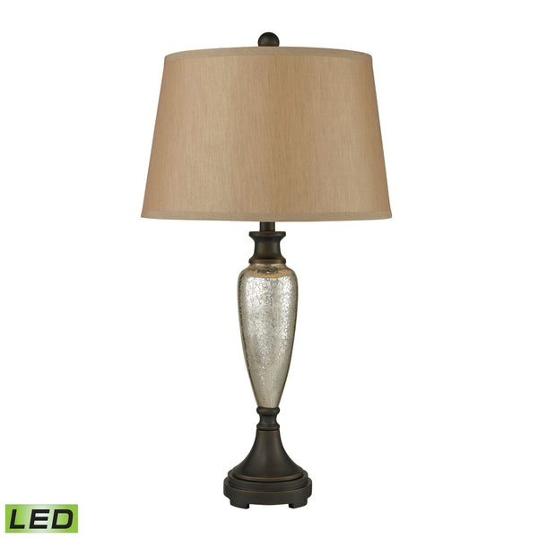 Beautiful Dimond Lighting Caldeon LED Table Lamps In Antique Mercury With Bronze Accents