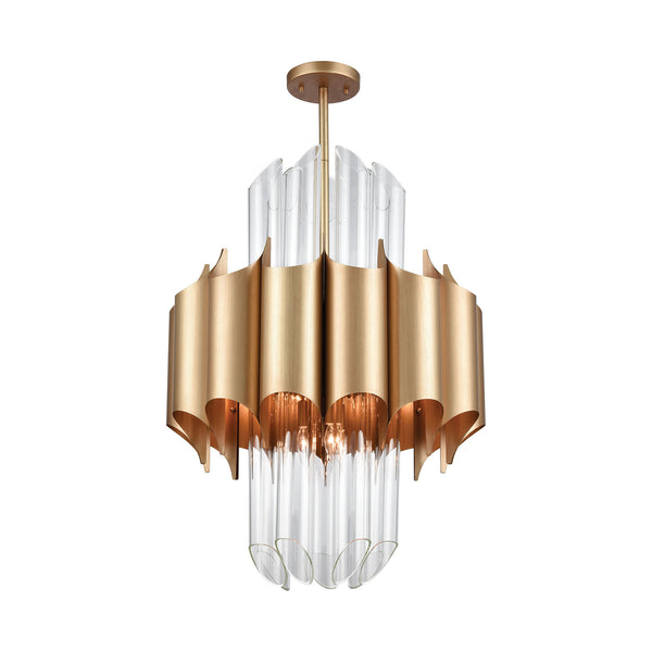 Beautiful Dimond Lighting  Cold Rolled Chandelier  in  METAL, GLASS