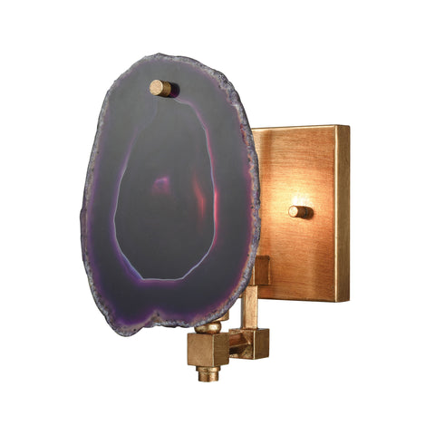 Beautiful Dimond Lighting  Purple Gallery Sconce  in  Metal, Stone