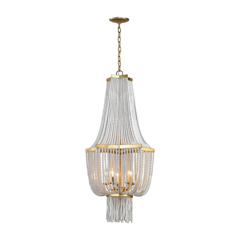 Beautiful Chaumont 5 Light Chandelier In Antique Gold Leaf for your Indoor Lighting.