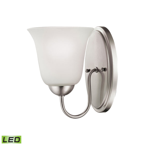 Thomas Conway 1 Light LED Vanity In Brushed Nickel
