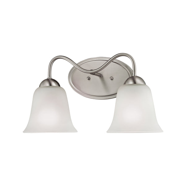 Thomas Conway 2 Light EEF Vanity In Brushed Nickel