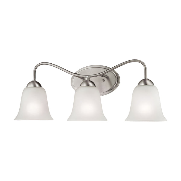 Thomas Conway 3 Light EEF Vanity In Brushed Nickel