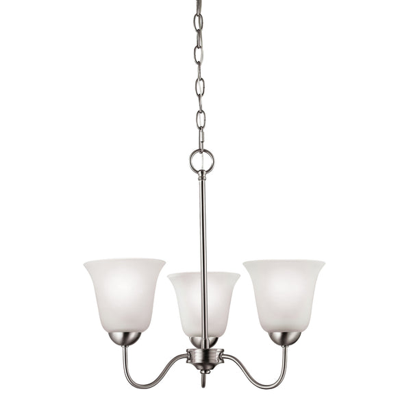Thomas Conway 3 Light EEF Chandelier In Brushed Nickel