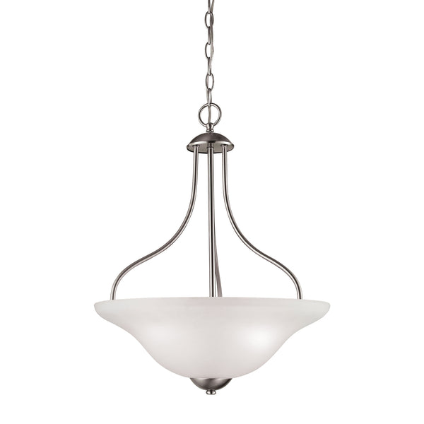 Thomas Conway 3 Light Large Pendant In Brushed Nickel