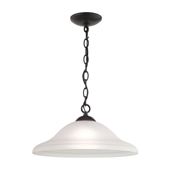Thomas Conway 1 Light Pendant Large In Oil Rubbed Bronze